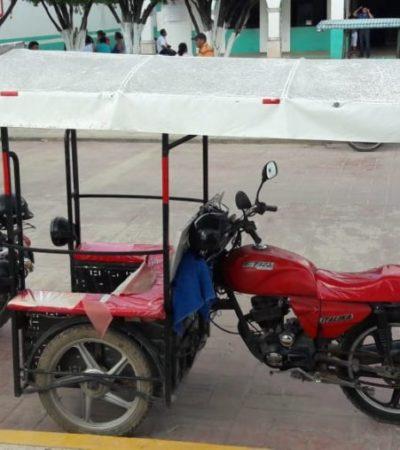 Dirección de Transporte municipal inicia operativos contra mototaxis en José María Morelos