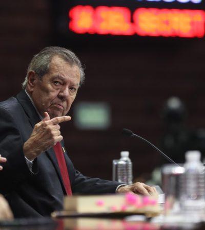 Peña Nieto no podrá entrar con escoltas armados a toma de protesta de AMLO, advierte Muñoz Ledo