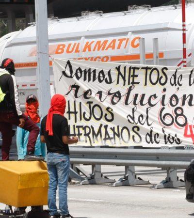 Retienen normalistas pipas de Pemex en Chiapas; exigen desde material educativo hasta plazas docentes
