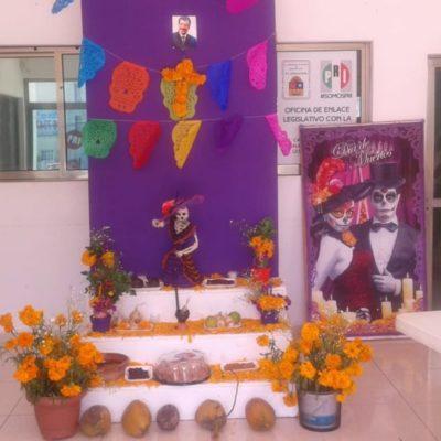 Tras semanas de abandono, el PRI en Cancún abre sus puertas para realizar ofrenda a Luis Donaldo Colosio en este Día de Muertos