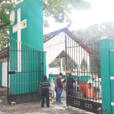 Alistan el cementerio morelense para el Día de Muertos