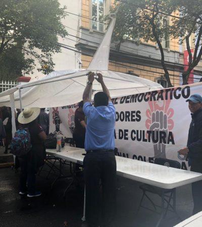 Enfrenta AMLO primera protesta burocrática por cambio de sede de la Secretaría de Cultura