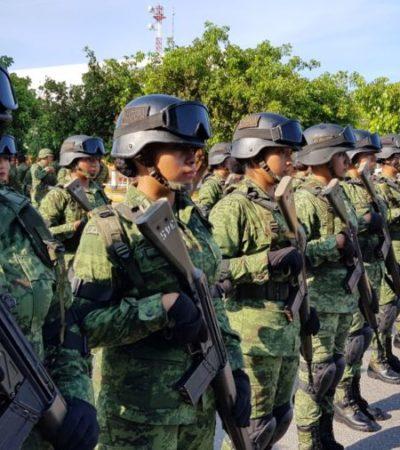 Policía Militar espera permisos del estado para ingresar a la ZH de Cancún