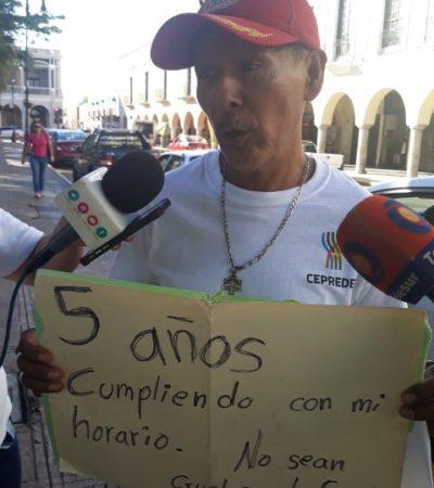 Fallida protesta por despido de 300 instructores deportivos en Yucatán; solo asiste uno…