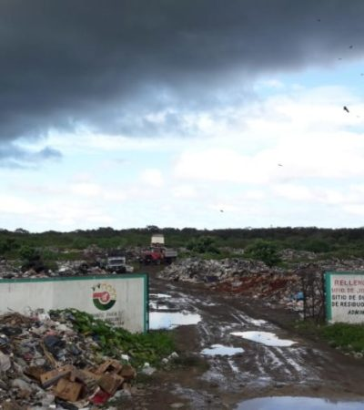 Inician labores de saneamiento del relleno sanitario de José María Morelos