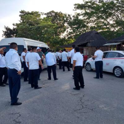 REVIENTA CONFLICTO ENTRE TAXISTAS: Surge bloqueo mutuo entre choferes de Tulum y Felipe Carrillo Puerto