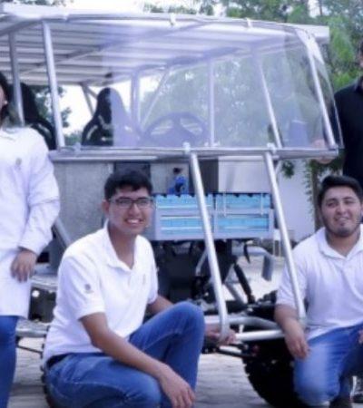 Desarrollan investigadores yucatecos un vehículo todoterreno de energía renovable y solar