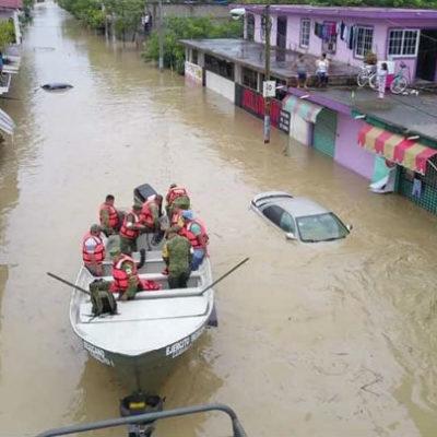 VIDEO | Inundan fuertes lluvias el norte y región de los Tuxtlas en Veracruz; acusan 'indiferencia' estatal