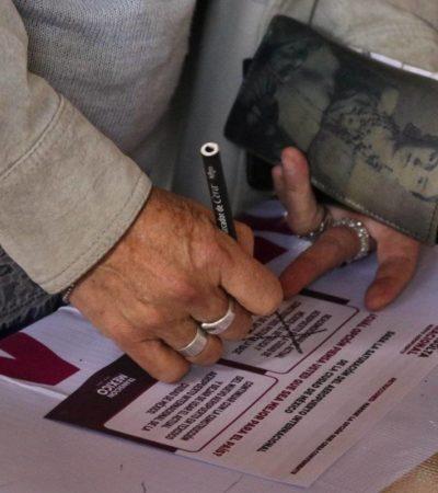 Votan 184 mil personas en primer día de la consulta sobre el NAIM; se instaló el 99% de casillas