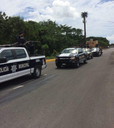 Policías municipales de Solidaridad exigen que la asignación de grados a 16 policías se lleve hasta el Consejo de Honor y Justicia
