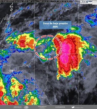 Baja presión en el Mar Caribe con 30% de probabilidad de desarrollo ciclónico