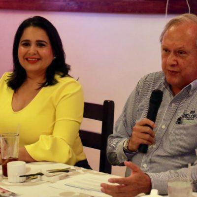 La senadora Mayuli Martínez presenta plan de trabajo legislativo ante integrantes de la Coparmex-Cancún