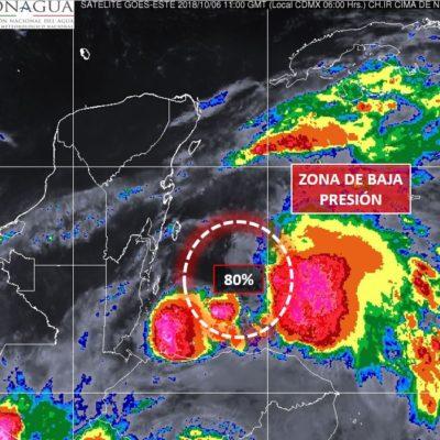 Baja presión en el Mar Caribe ahora con 80% de probabilidad de desarrollo ciclónico; habrá mucha lluvia en QR