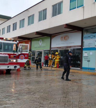 Conato de incendio en la Plaza Nichupté de la SM 16 en Cancún