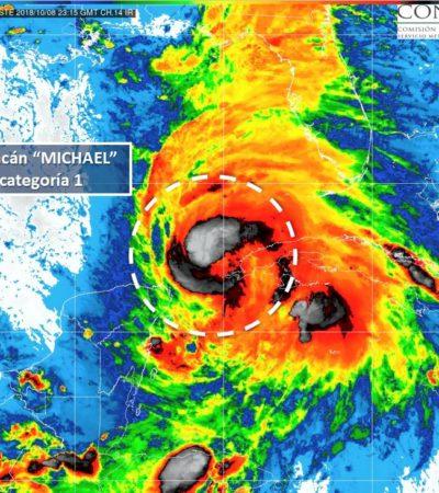 'MICHAEL' SE FORTALECE, PERO SE ALEJA: El huracán se desplaza con rumbo al Golfo de México; piden mantenerse pendientes de avisos oficiales