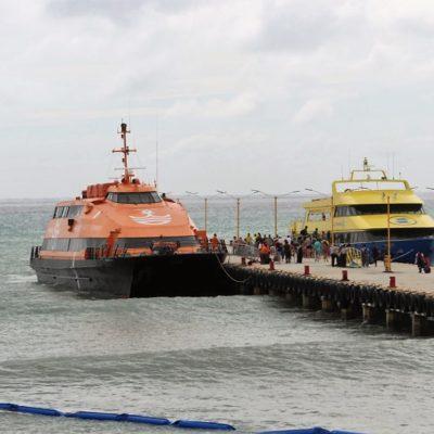 Restablecen servicios de la ruta federal marítima a Cozumel; las navieras laboran con precaución para evitar incidentes