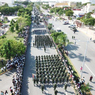 """""""NO VAMOS A PERMITIR QUE UNOS POCOS NOS QUITEN LA TRANQUILIDAD"""": Gobernador da la bienvenida a Cancún a la Décima Brigada Militar"""