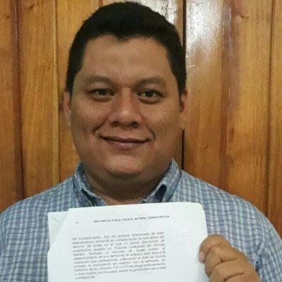 Admiten demanda de amparo de ex regidor de OPB contra el acuerdo que permitiría al Gobierno de QR realizar el cobro del predial del municipio