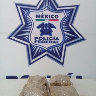 Decomisan metanfetaminas y billetes falsos en el aeropuerto de Cancún