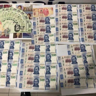 ¡AGUAS CON LAS FALSIFICACIONES!: Encuentran billetes clonados durante cateo en una empresa de paquetería