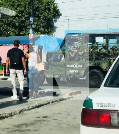 POLICÍA MILITAR PATRULLA LAS CALLES DE CANCÚN: A una semana de su llegada y tras escándalo inicial de soldados ebrios, la Brigada se empieza a dejar ver