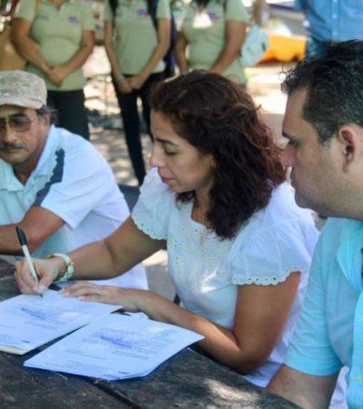 En reunión con pescadores y líderes de Morena en Isla Mujeres, Marybel Villegas se comprometió a escuchar y atender las necesidades de los isleños