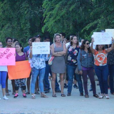 Tras bloqueo de la avenida 115, padres del colegio Britt logran que el Ayuntamiento los atienda