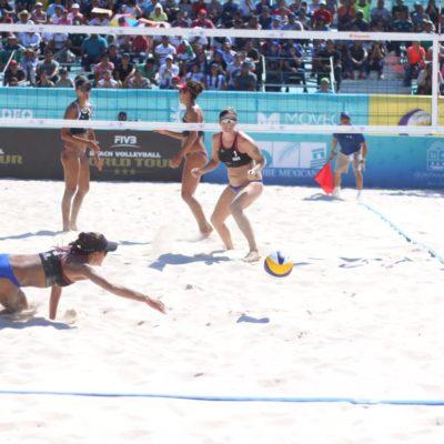 México se impone a Estados Unidos en el Tour Mundial de Voleibol de Playa en Chetumal