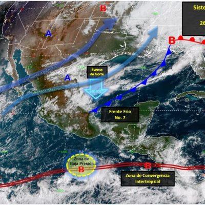 Probabilidad de lluvias y temperaturas frescas durante el fin de semana en Quintana Roo