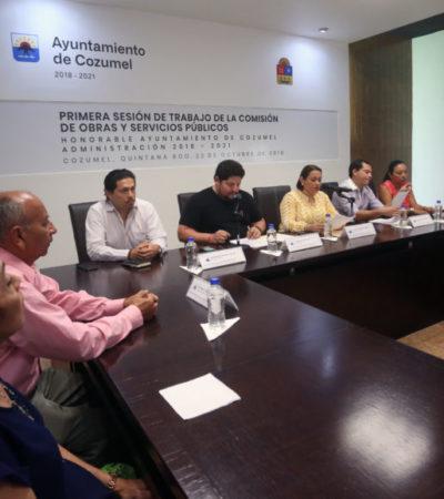 SESIONAN COMISIONES: Propondrán programas para un crecimiento ordenado de Cozumel