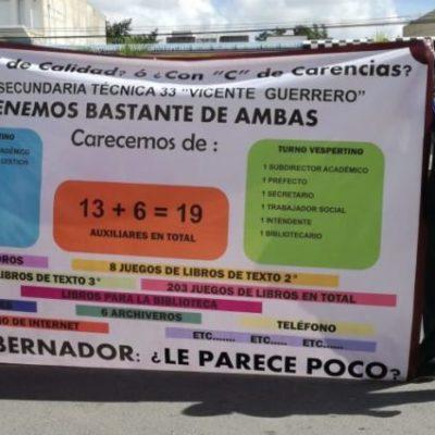 Gracias a presión de padres de familia, el Ifeqroo destinará 2 mdp en mejoras de infraestructura educativa en secundaria de Playa del Carmen