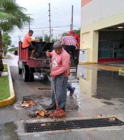Inician campaña de limpieza de avenidas y rejillas para evitar contingencias en temporada de lluvias en Cozumel