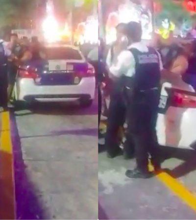 Arrestan a miembros de la Brigada de la Policía Militar por alterar el orden y orinarse en la vía pública en plena Zona Hotelera de Cancún
