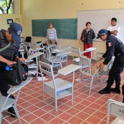 Podrían aplicar el 'operativo mochila' en Solidaridad, con el objetivo de prevenir la violencia en las escuelas