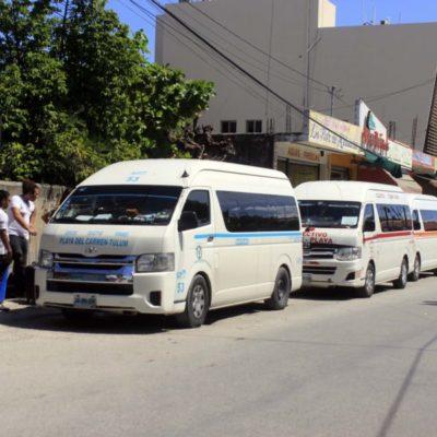 Registran vans foráneas afectaciones por temporada baja en Playa del Carmen