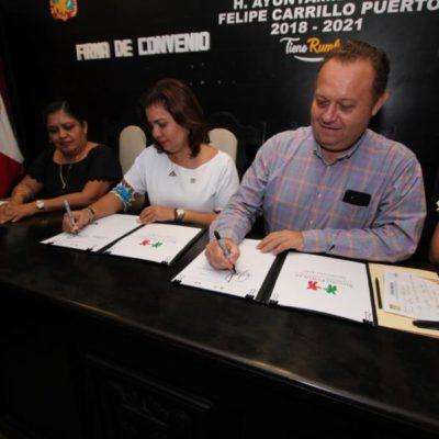 Ayuntamiento de FCP firma convenio de colaboración con el Seguro Popular para continuar brindando el servicio médico