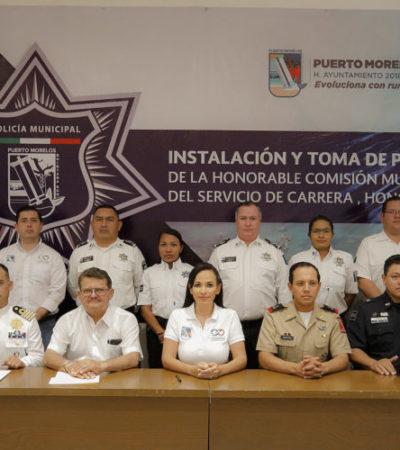 Con el fin de regular las conductas y estímulos de la Secretaríade  Seguridad Pública de Puerto Morelos, instalan la comisión del servicio de carrera, honor y justicia