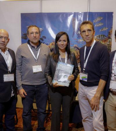 """""""Es importante que todos colaboremos para preservar el Sistema Arrecifal Mesoamericano"""", destaca Laura Fernández en el Foro Latinoamericano Geoespacial"""