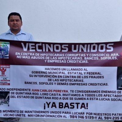 Pide integrantes de la asociación Ciudadanos Unidos de Playa del Carmen que se derogue la 'Ley Casitas', promovida por el diputado Juan Carlos Pereyra