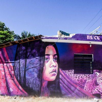 GALERÍA | Turistas de todo el mundo pintan murales en el primer Festival del Arte Akumal 2018
