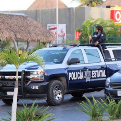 GALERÍA | Policías estatales y municipales, como parte de la estrategia del Mando Único, recorren las calles de Cancún