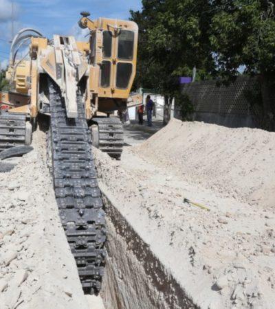 Con instalación de tubería para conducción de agua potable, más de cinco mil habitantes de Isla Mujeres serán beneficiados