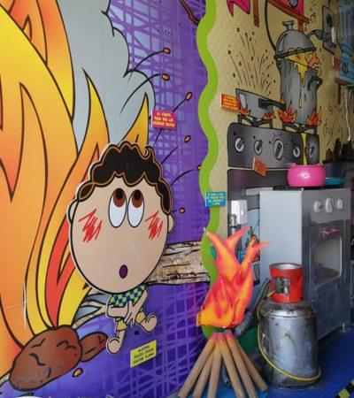 Inicia actividades en QR el museo itinerante de prevención de quemaduras