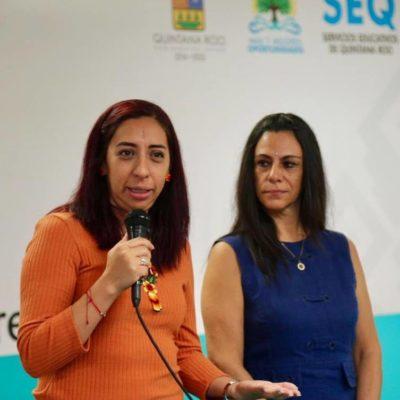 """""""En tanto se definen las reglas de la Reforma Educativa, maestros seguirán presentando evaluaciones"""", dice la titular de la SEQ, Ana Isabel Vázquez"""