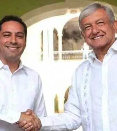 Planta AMLO a reporteros luego de reunión sobre el Tren Maya en Yucatán