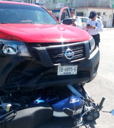 Arrollan a motociclista en Chetumal