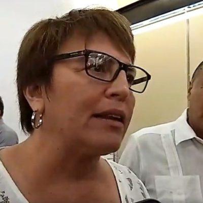 """""""AHORITA ME HAN DICHO, NO"""": Laura Beristain reitera que Solidaridad no aceptará el Mando Único, a menos que se lo pida López Obrador"""