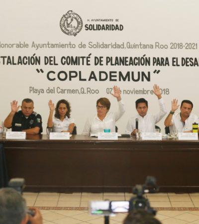 Instalan el Comité de Planeación para el Desarrollo Municipal de Solidaridad