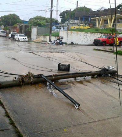 Deja frente frío sin energía eléctrica al puerto de Veracruz; comerciantes lamentan inacción de CFE