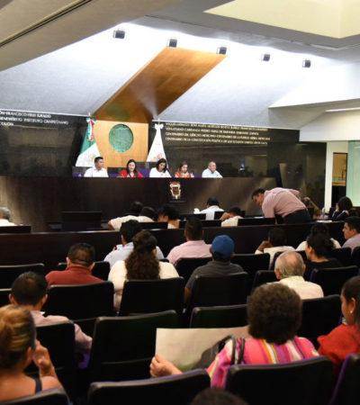 Protagonizan legisladores conato de riña en Congreso de Campeche por nuevo imagotipo de la UAC